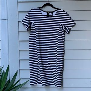 J Crew Short sleeve stripe dress